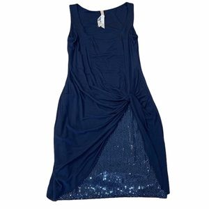 Bailey 44 Navy Cinched Sequin Detail Mini Dress